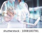 digital stock market financial... | Shutterstock . vector #1008183781