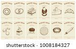 labels with pastries and... | Shutterstock .eps vector #1008184327