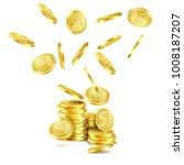 vector realistic falling gold... | Shutterstock .eps vector #1008187207