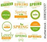 spring typographic design set. | Shutterstock .eps vector #1008192157