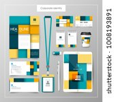 corporate identity template... | Shutterstock .eps vector #1008193891