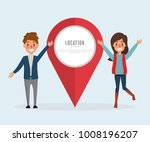 check in concept infographic.... | Shutterstock .eps vector #1008196207