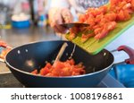preparing and cooking authentic ... | Shutterstock . vector #1008196861