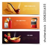 tobacco products set of... | Shutterstock .eps vector #1008201655