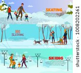 winter recreation horizontal... | Shutterstock .eps vector #1008202261