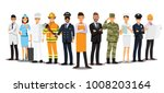 people group different job set  ... | Shutterstock .eps vector #1008203164