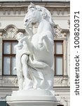 Statue in the Belvedere castle in Vienna - stock photo
