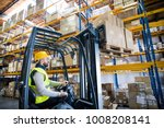 warehouse man worker with... | Shutterstock . vector #1008208141