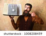 businessman with surprised face ... | Shutterstock . vector #1008208459