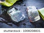 transparent  wet aloe vera... | Shutterstock . vector #1008208831