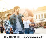 group of friends laughing and...   Shutterstock . vector #1008212185