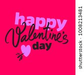 happy valentine's day poster in ... | Shutterstock .eps vector #1008213481