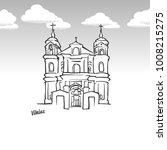vilnius  lithuania famous... | Shutterstock .eps vector #1008215275