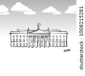 dublin  ireland famous landmark ... | Shutterstock .eps vector #1008215281