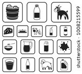 milk product black icons in set ... | Shutterstock .eps vector #1008215599