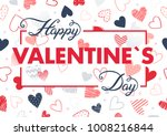 happy valentines day   hand... | Shutterstock .eps vector #1008216844