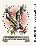 vector american eagle tattoo... | Shutterstock .eps vector #1008225475