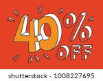40   off. yellow forty number... | Shutterstock .eps vector #1008227695