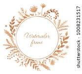 floral wreath. botanical... | Shutterstock . vector #1008231517