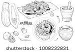 thai food. hand drawn...   Shutterstock .eps vector #1008232831