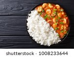 delicious gumbo with prawns ... | Shutterstock . vector #1008233644