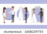 proposal of boyfriend with ring ... | Shutterstock .eps vector #1008239755