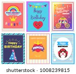 happy birthday  little princess ... | Shutterstock .eps vector #1008239815