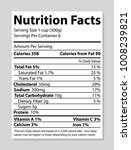 nutrition facts banner  bright... | Shutterstock .eps vector #1008239821