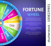 fortune wheel poster with place ... | Shutterstock .eps vector #1008239851