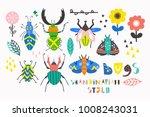 scandinavian style bugs. hand... | Shutterstock .eps vector #1008243031