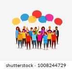 colorful social network people... | Shutterstock .eps vector #1008244729