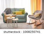 living room interior with... | Shutterstock . vector #1008250741