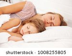 mom and child sleeping in the... | Shutterstock . vector #1008255805