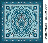 floral indian paisley pattern... | Shutterstock .eps vector #1008257044