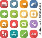 flat vector icon set   calendar ...
