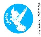 dove bird carrying olive branch ... | Shutterstock .eps vector #1008265501