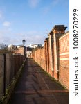 Small photo of Long narrow alley way in Nottingham