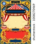 circus editable frame. vintage... | Shutterstock . vector #1008270469