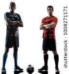 two soccer players men in... | Shutterstock . vector #1008271171