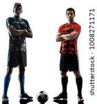 two soccer players men in... | Shutterstock . vector #1008271171