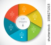 circle chart for infographics.... | Shutterstock .eps vector #1008271315