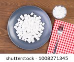 sugar cubes on a plate and in a ... | Shutterstock . vector #1008271345