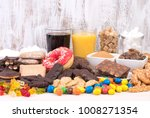 food containing a lot of sugar. ... | Shutterstock . vector #1008271354
