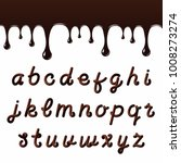 chocolate font with latin... | Shutterstock .eps vector #1008273274