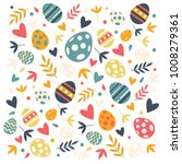 easter eggs decorative pattern... | Shutterstock .eps vector #1008279361