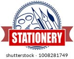 stationery flat vector icon... | Shutterstock .eps vector #1008281749