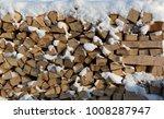 firewood put. chipped firewood. ... | Shutterstock . vector #1008287947