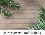 fresh green rosemary twigs on... | Shutterstock . vector #1008288841