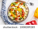 salad with cheese and fresh... | Shutterstock . vector #1008289285