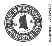 made in mississippi state usa... | Shutterstock .eps vector #1008290809